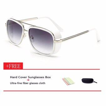 Harga Iron Man 3 Actor Tony Matsuda Men Sunglasses White Grey