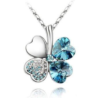 Harga Okdeals Crystal Pendant Chain Necklace Lucky Valentine Sky Blue