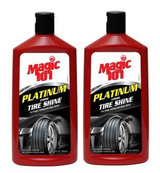 Harga Magic101 Platinum Xtreme Tire Shine 502ml x 2 Bottles (Buy 1 Free 1)