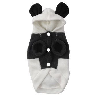 Harga new Y429XS Cute Fleece Panda Clothes Warm Coat Costume Outwear Apparel for Pet Cat Dog