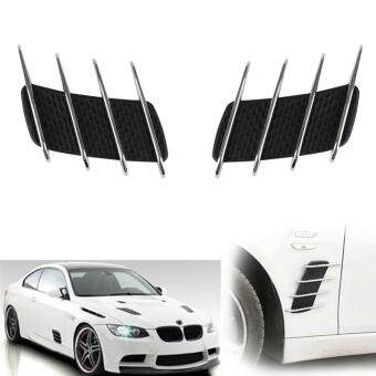 Harga JNTworld Car Air Simulation Vent Decorative Intake Grille Wind Net Sticker Modified Wind Net(Black)