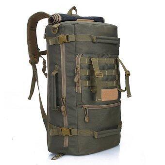 Harga Backpack Shoulder Bag 50L Hiking Camping Outdoor Travel (Army Green)