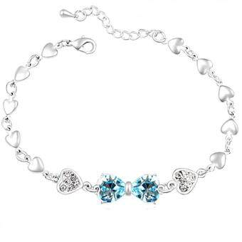 Harga LOVENGIFTS Swarovski Princess Bow Bracelet (Blue)
