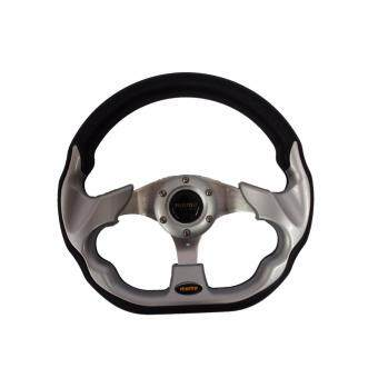 Harga MOMO 13 inch PU Steering Wheel/Drifting Steering Wheel/Racing Steering Wheel - Silver