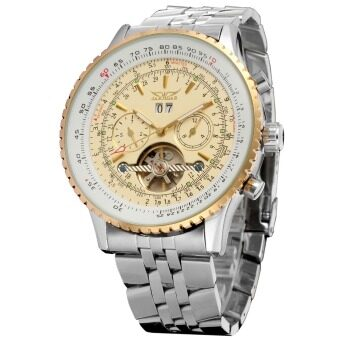 Harga Jargar Automatic Mechanical Dress Tachymeter Tourbillon Watch - Gold&White