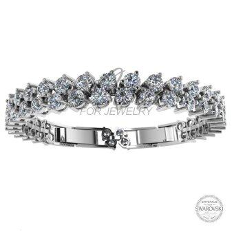Harga Love For Jewelry Elegant Bracelet LJB001 Crystal From Swarovski (18k White Gold Plated)