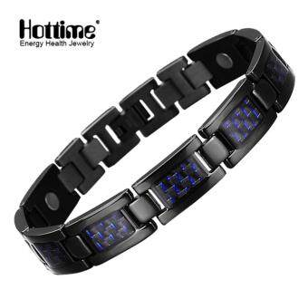 Harga Hottime Fashion Jewelry Bracelets & Bangles Bio Energy Healing Titanium Magnetic Bracelet Men Jewelry Love Bracelet Gift For Men 10129