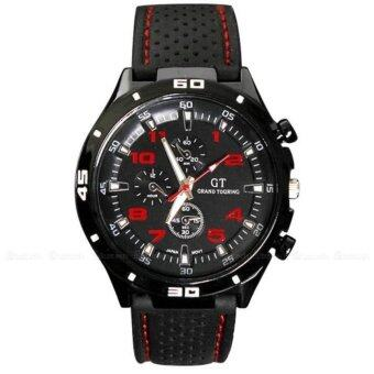 Harga GT Grand Racing Men Military Pilot Silicone Sport Wrist Watch