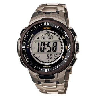 Harga Casio Pro Trek Men's Watch Titanium Band TRIPLE SENSOR PRW-3000T-7