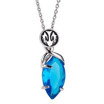 Harga Hequ 3D Game Final Fantasy Crystal Chronicles Yuna Necklace Blue Crystal Drop Pendants Classic Punk Women Blue(Blue)