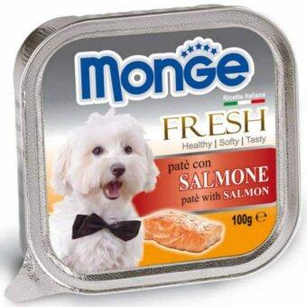 Harga Monge Fresh Salmon 100g 32 packs free 4
