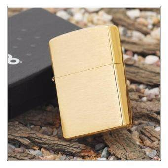 Harga ZIPPO 204 Brushed Brass Windproof Lighter (USA)