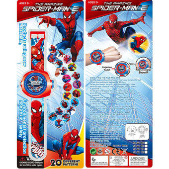 Harga Super Heroes Cartoon Spider-man Quartz Watch Educational Toys For Children Boys