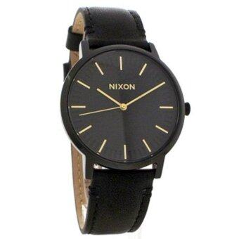 Harga Nixon Watch Porter Black Stainless-Steel Case Leather Strap Mens NWT + Warranty A10581031