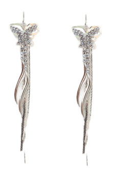 Harga Fancyqube Diamond Butterfly Earrings Silver