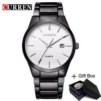 Harga Loveu Men's Watches Full Steel Band Quartz Watch Auto Date Men Gift Best Birthday Gift Wrist Watch