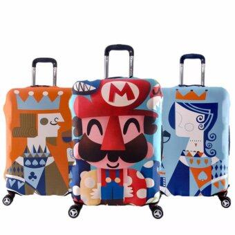 Harga Luggage Protector Cute Cover Travel Suitcase - Mario - M size