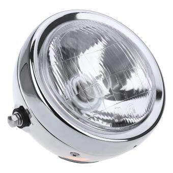 Harga 6-Inch High Power 35W Motorcycle Headlight Head Lamp Silver