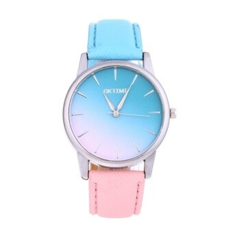 Harga Women Casual Candy Color Leather Belt Student Watch (2#)