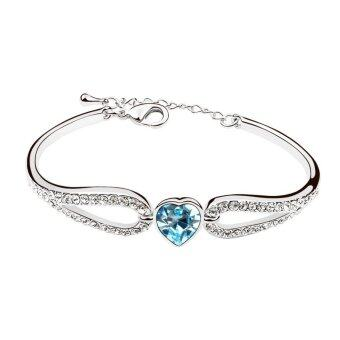 Harga LOVENGIFTS Swarovski Sweet Girl Heart Bangle