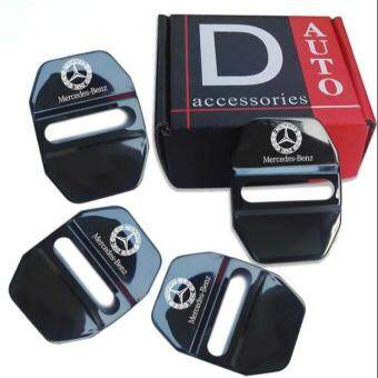 Harga 4pcs/lot New Arrival Stainless Steel Door Lock Decoration Cover Door Lock Cover Sticker For Mercedes Benz Class A B C GL GLK GLE S SL AMG