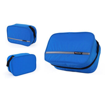 Harga Portable Multifunction Traveling Toiletry Bag Hanging Water-Resistant Wash Bag for Traveling Business Trip Camping (Blue)