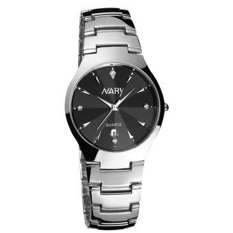 Harga New Arrival NARY 6112 Watch Single Calendar Couple's Quartz Watch(black)