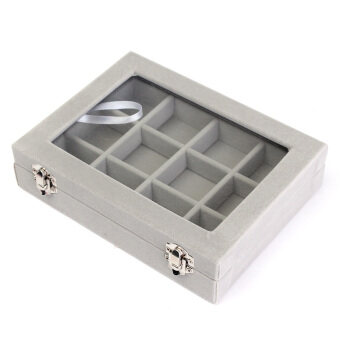Harga 12 Grid Glass Jewel Watch Display Organizer Box Tray Holder Earring Storage Case