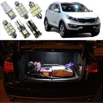Harga 9pcs LED interior light kit package for Kia Sportage 2011 2012 2013 Dome Vanity Mirror Glovebox Trunk Plate Light car styling