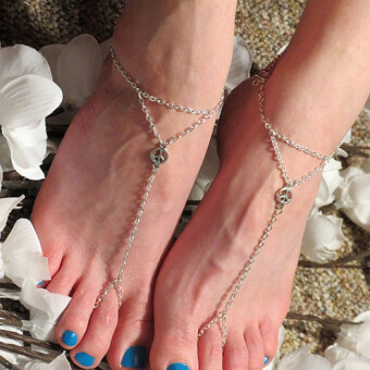 Harga European and american jewelry wholesale trade jewelry wholesale female anklet anklets fashion decorative pattern beach (single)