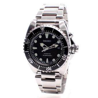Harga Seiko Watch KINETIC Silver Stainless-Steel Case Stainless-Steel Bracelet Mens NWT + Warranty SKA371P1