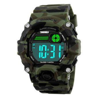 Harga Time When the United States When the Electronic Watch Electronic Watch Outdoor Sports Men Watch Blind Old Man When the Watch