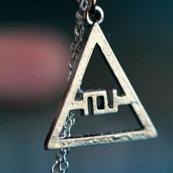 Harga 30 Seconds to Mars Logo Triad JARED LETO/GLYPHICS ECHELON GLYPH SYMBOL necklace
