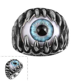 Harga 1 Pcs Evil Eye Male Finger Ring Dragon Pattern Punk Goth Man Jewelery Biker Ring Cheap but quality goods