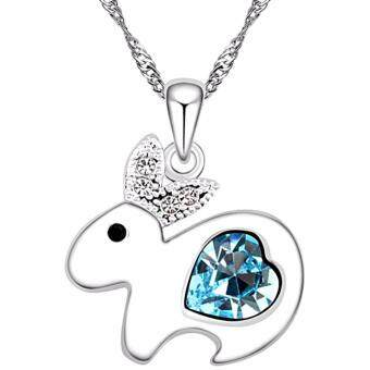 Harga LOVENGIFTS Swarovski Zodiac Animal Rabbit Pendant Necklace