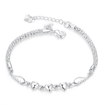 Harga Stylish H365 Charming China Supplier Love Forever Silver Bracelet