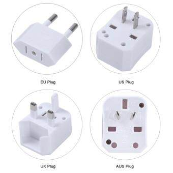 Harga Mini International Travel Plug Charging Adapter Suit Storage Box (White)
