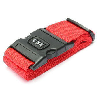 Harga Adjustable Luggage Suitcase Straps Travel Baggage Packing Buckle Tie Belt Lock Red
