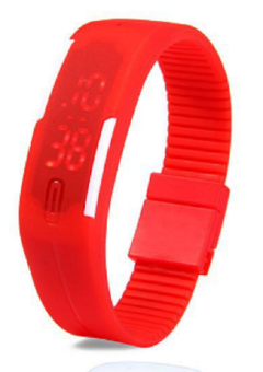 Harga Foreign Trade Explosion Models Silicone LED Students Electronic Bracelet Watch (Red)