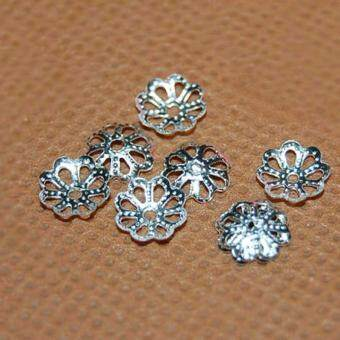 Harga Hequ 250 pcs lot 7&9mm Flower Torus Beads Hat Caps DIY Jewely Accessories Findings