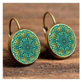 Harga LoveU Unique Women's Bohemian Sunflower Time Gem Earrings(gold)