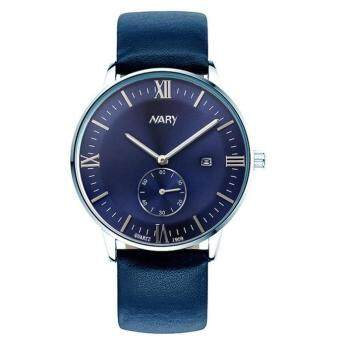 Harga NARY Luxury Man Wristwatch Quartz Watch With Calendar Blue
