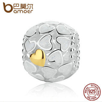 Harga BAMOER 925 Sterling Silver Abundance Of Love Charm, Silver Enamel Charms fit Beads Bracelets for Women DIY Jewelry PAS319