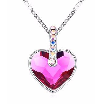 Harga LOVENGIFTS Swarovski Angelic Heart Pendant Necklace