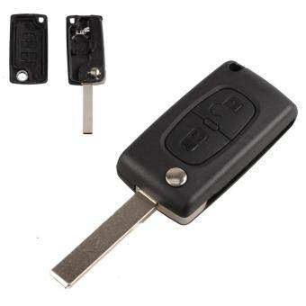 Harga 2 Button Car Replacement Flip Key Fob Case Shell Blade for 207 307 308 407