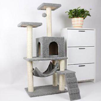 Harga CS15 Luxurious Cat Villa / Pet Kitten Climbing Bed Scratch Accessories