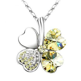 Harga LOVENGIFTS Swarovski Lucky Pendant Necklace (Gold)