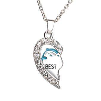 Harga Kuhong 2pc Bestfriends Necklace Good friends Love Dolphin Necklace