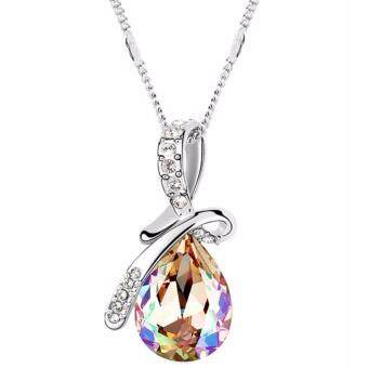 Harga LOVENGIFTS Swarovski Tear Drop Pendant Necklace