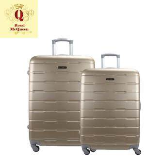 Harga Royal McQueen Hard Case 4 Wheels Spinner Light Weight (20+24) Luggage – QTH 6910 (GOLD)
